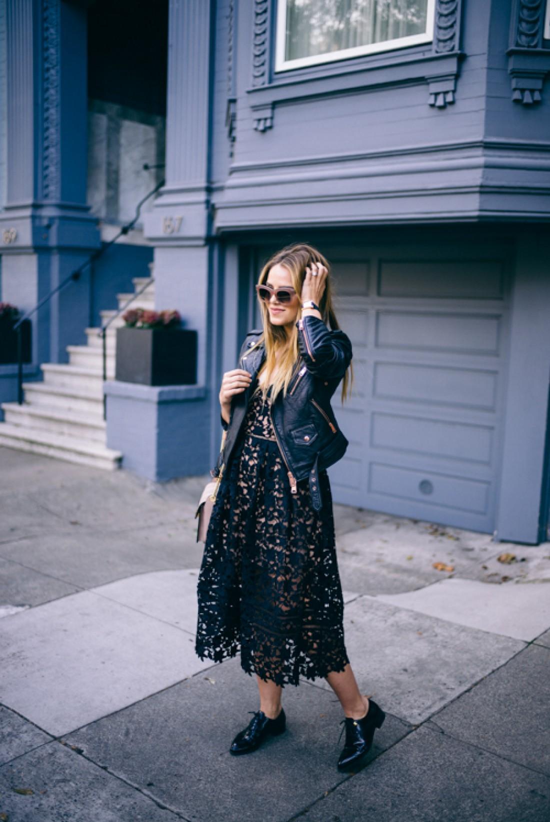 Черное платье + косуха