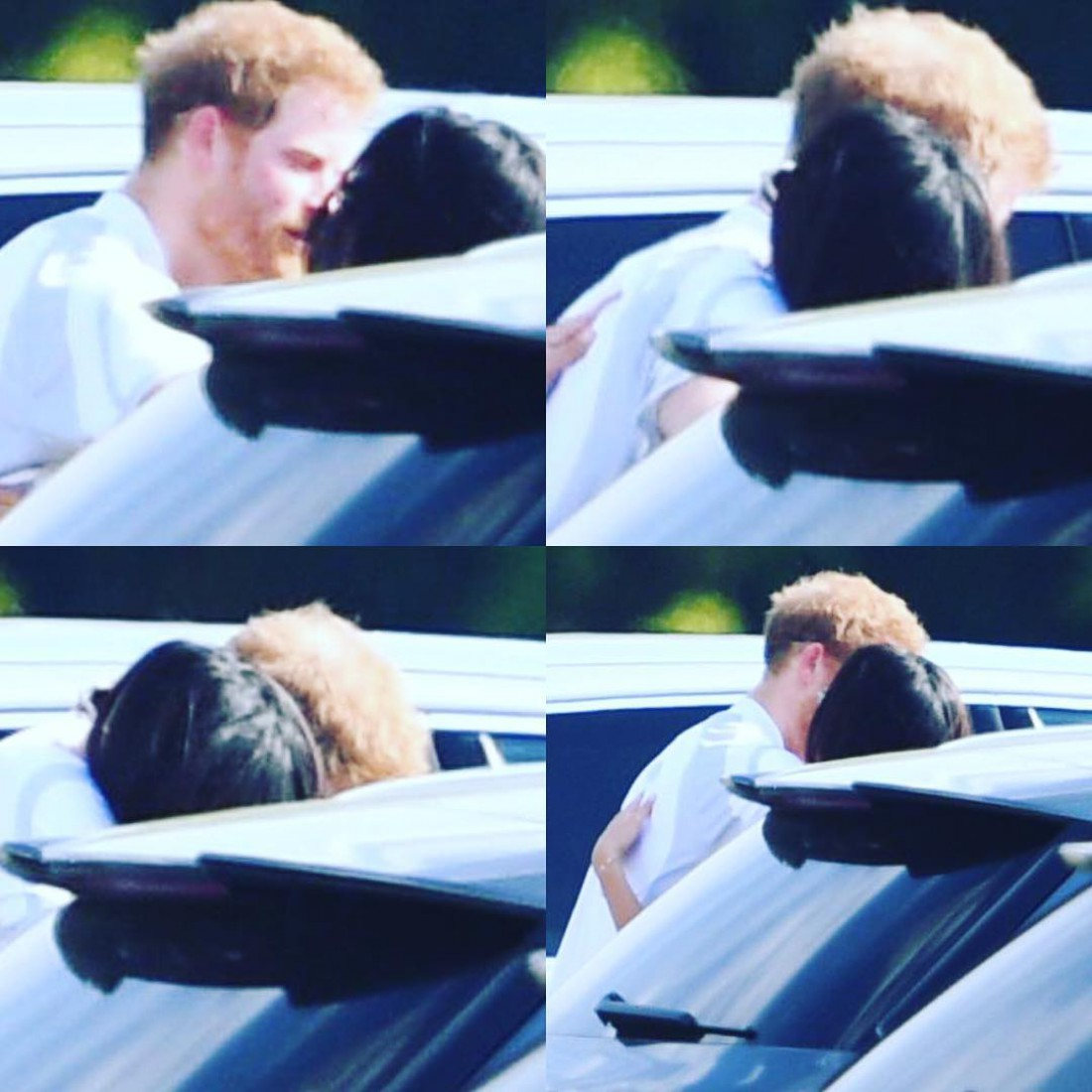Принц Гарри и Меган Маркл целуются