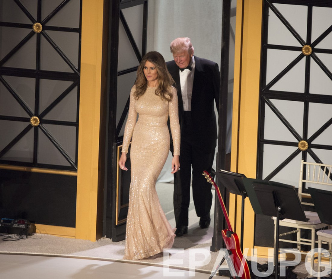 Меланья и Дональд Трамп на званом ужине