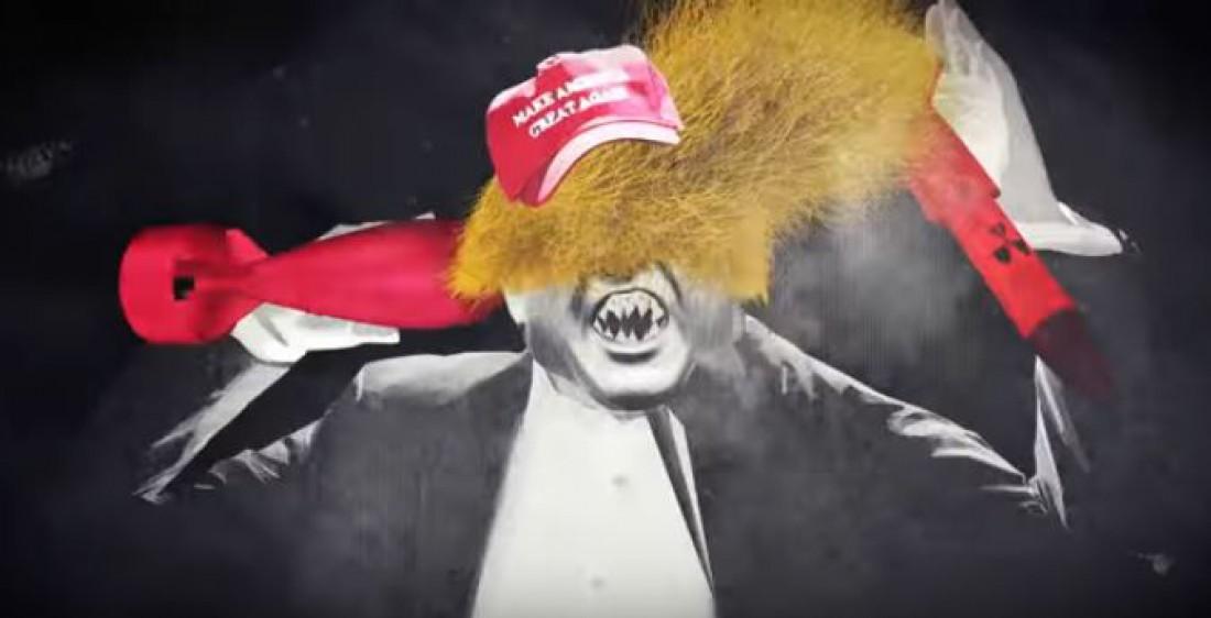 Дональд Трамп в образе вампира