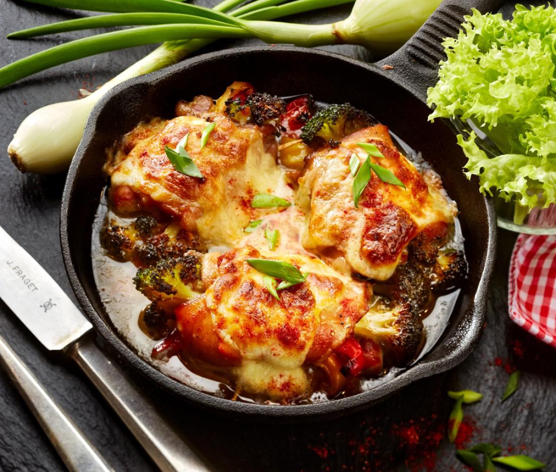 Курица с болгарским перцем и овощами