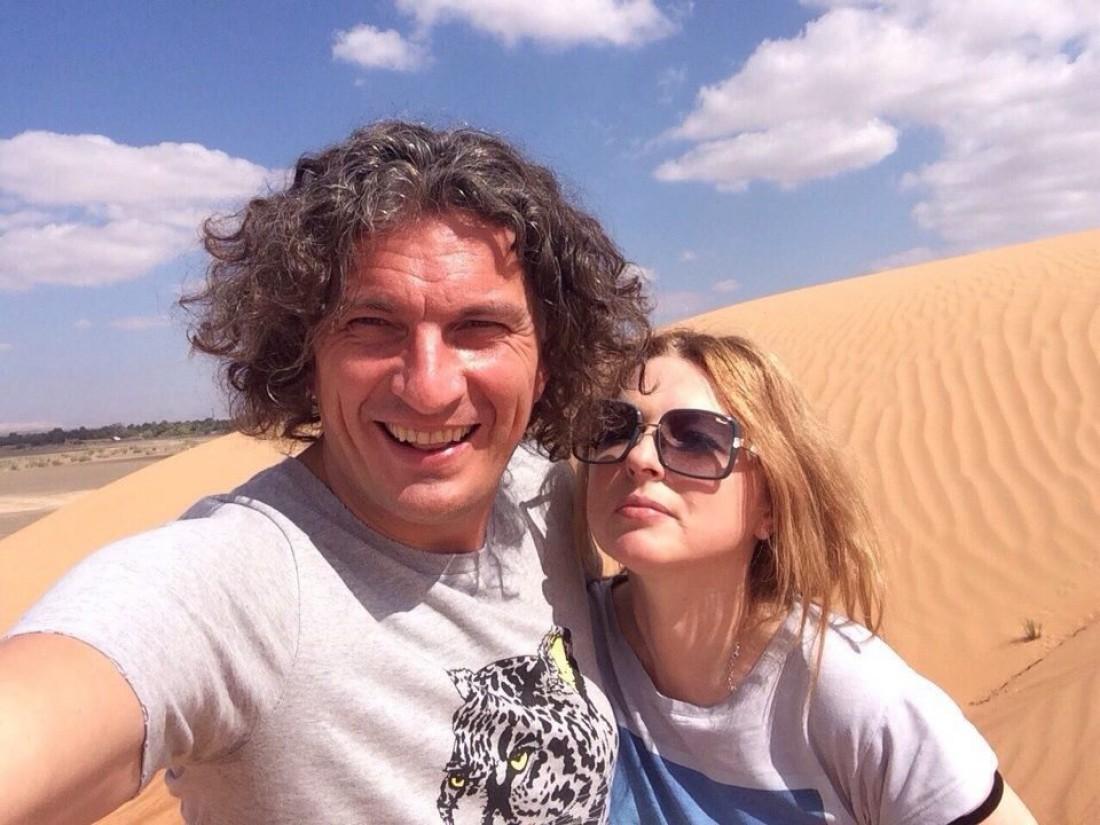 Кузьма Скрябина с женой Светланой