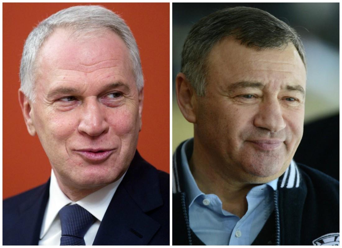 Юрий Ковальчук (слева) и Аркадий Ротенберг