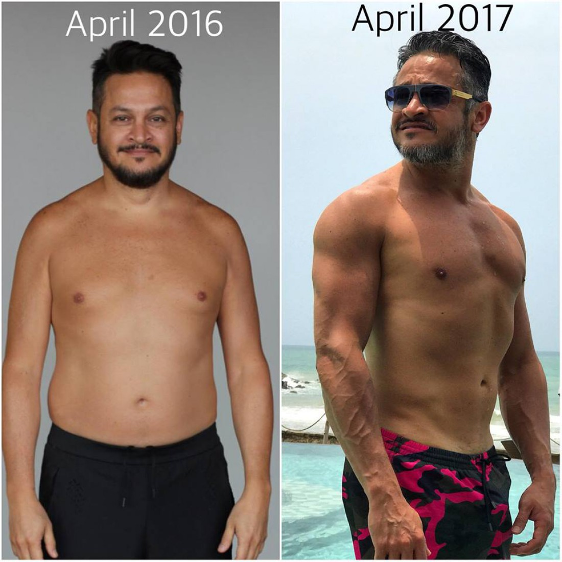 Эктор Хименес-Браво  в апреле 2016 и 2017 годов