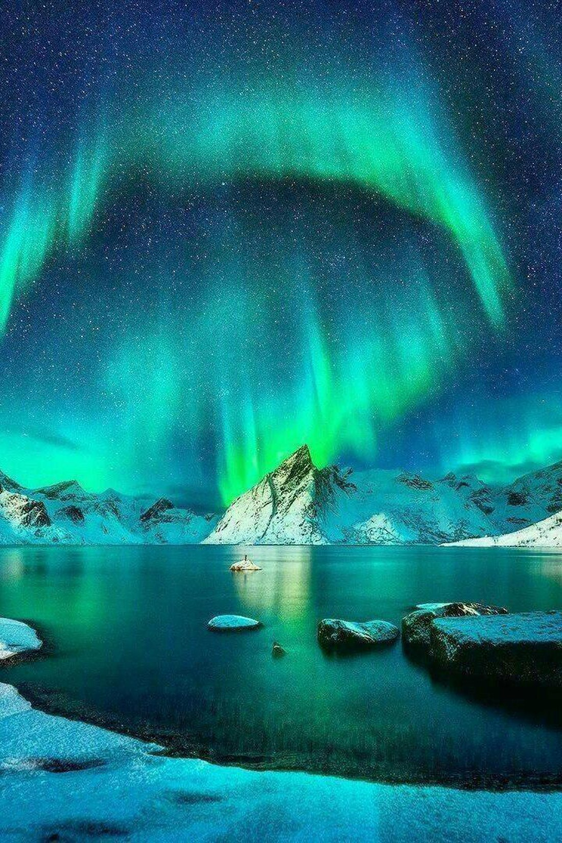 Северное сияние в Исландии - завораживающее зрелище