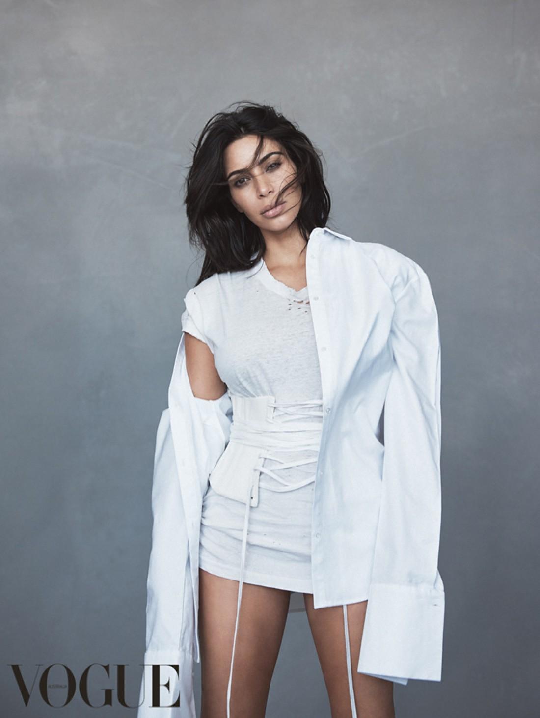Телезвезда ким Кардашян стала главной героиней номера Vogue Australia