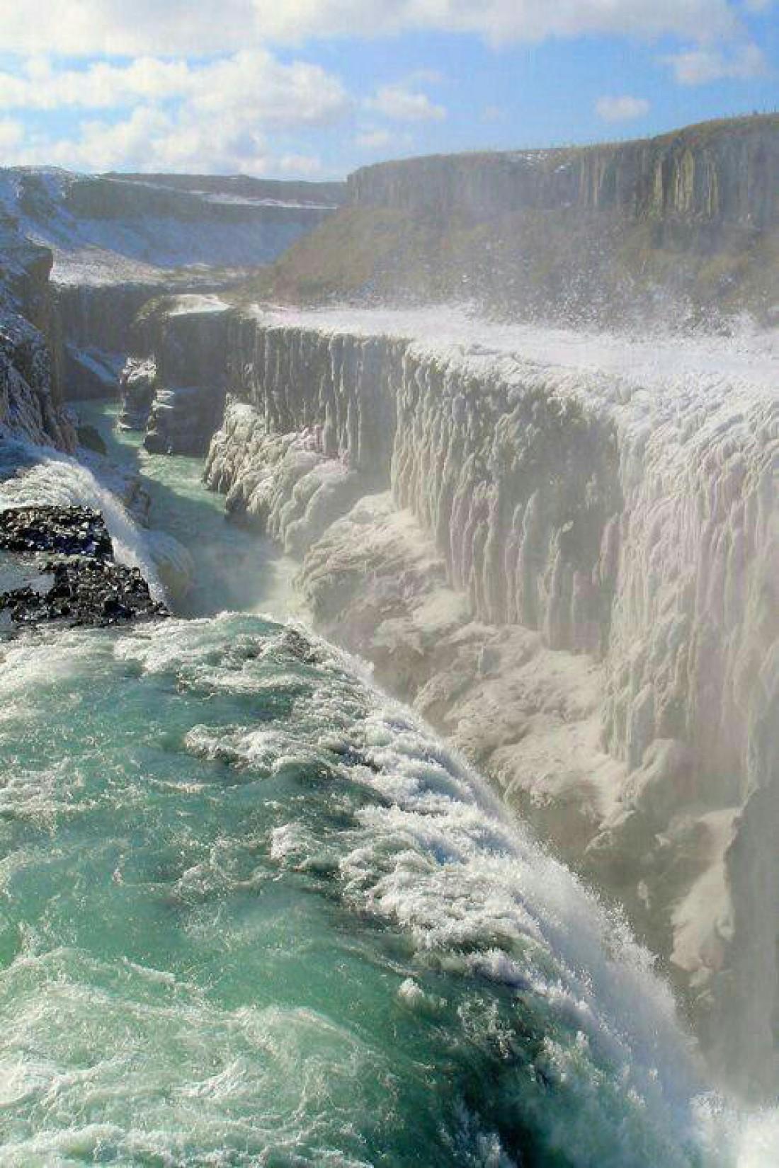 Самый мощный в Европе водопад - Деттифосс