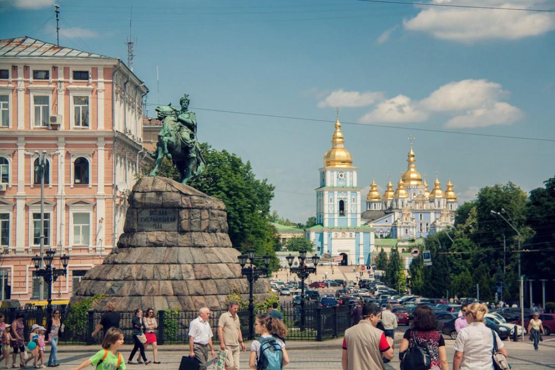 Вид с Софийской площади на Михайловский собор