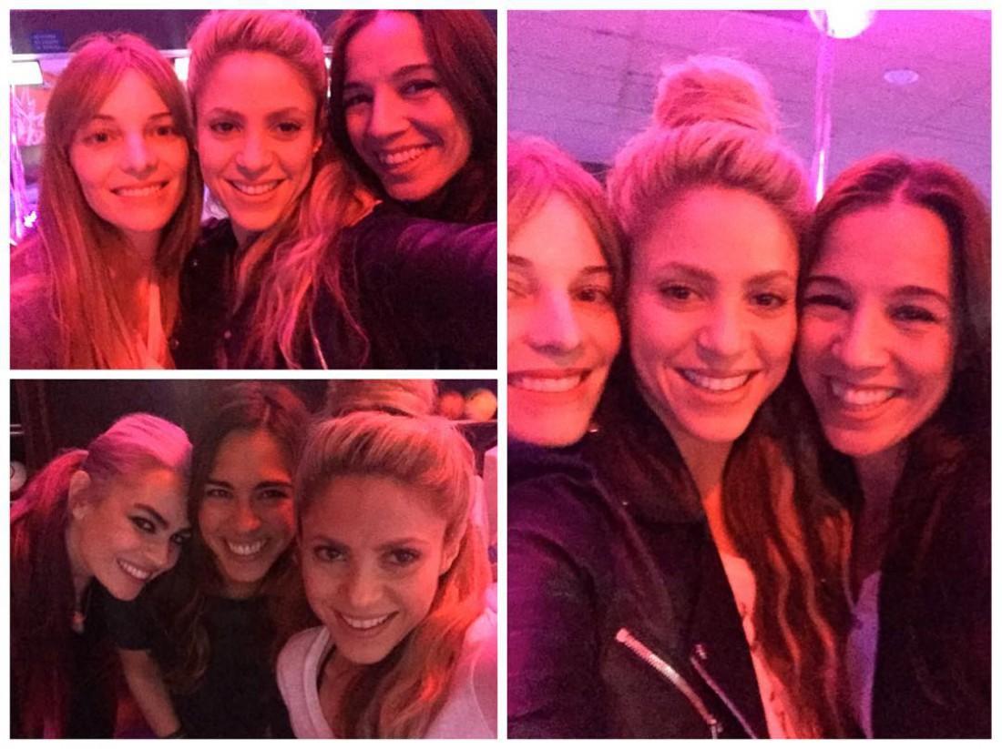 Шакира с подругами в боулинг-клубе