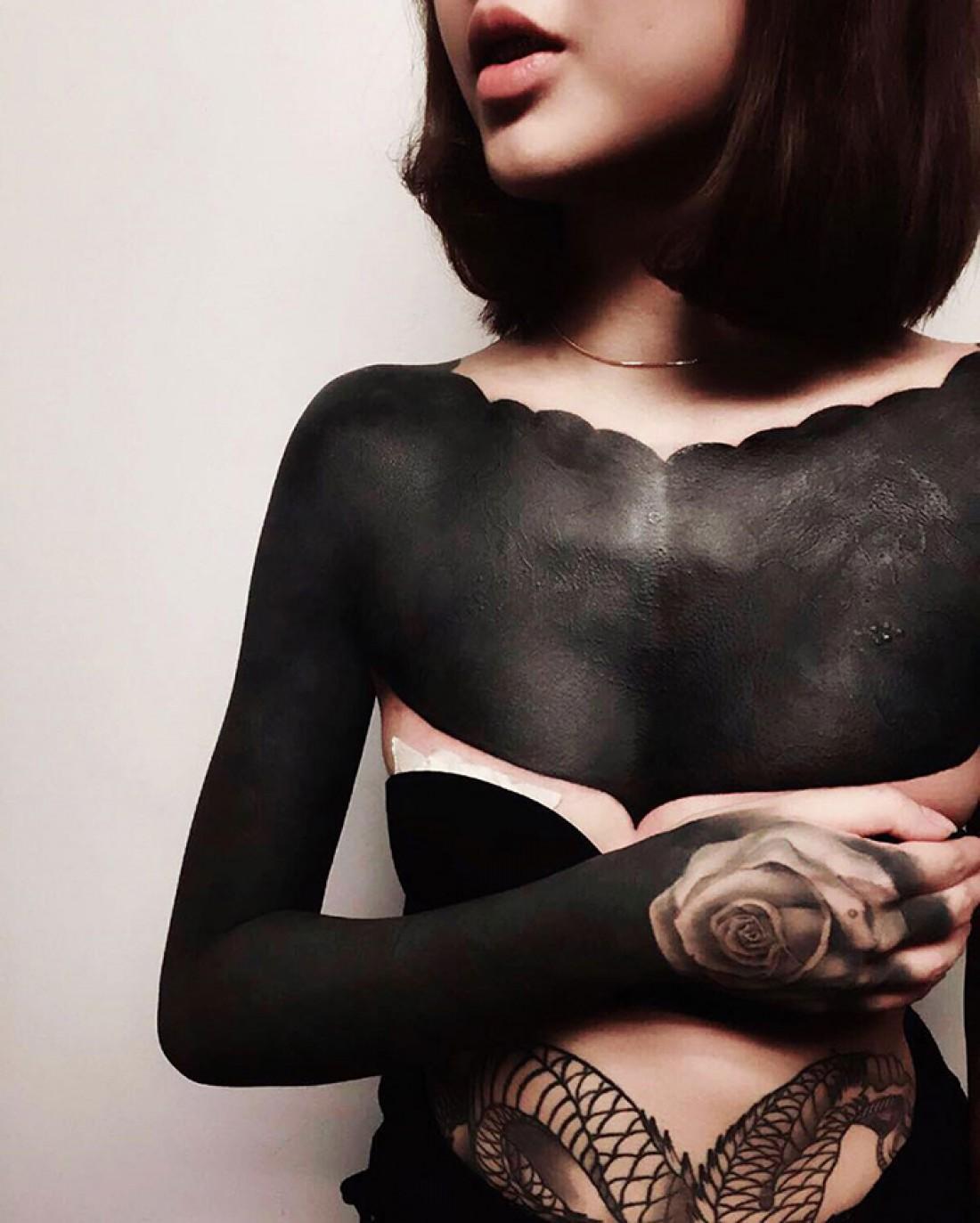 Blackout – новый стиль в татуировке