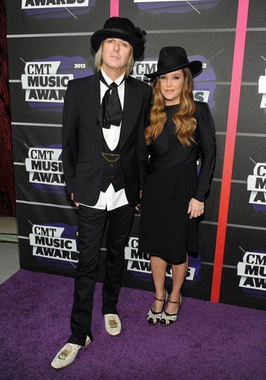 Лиза Мария Пресли с мужем Майклом Локвудом