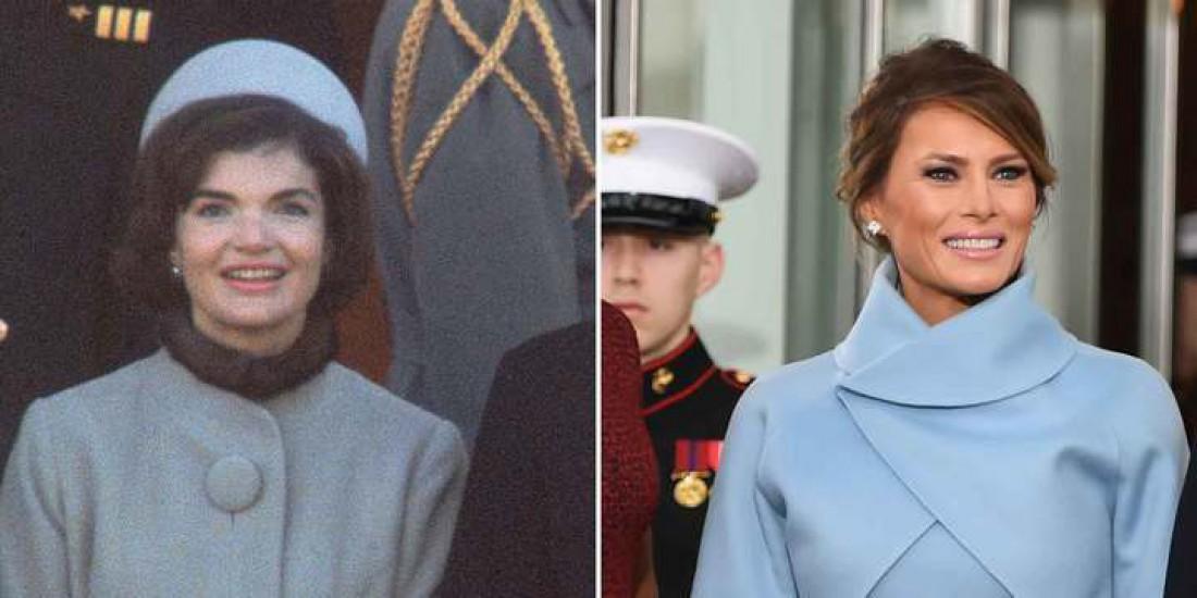 Джеки Кеннеди и Меланья Трамп в голубом