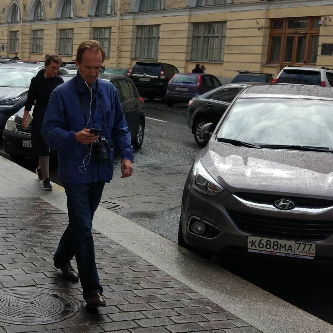 Рэйф Файнс в Санкт-Петербурге