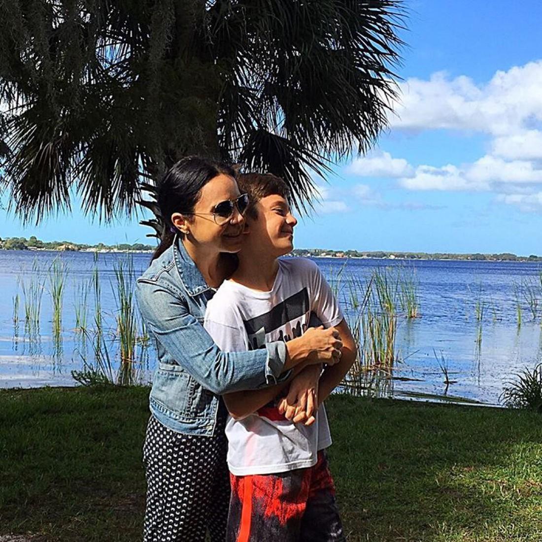 Лилия с сыном
