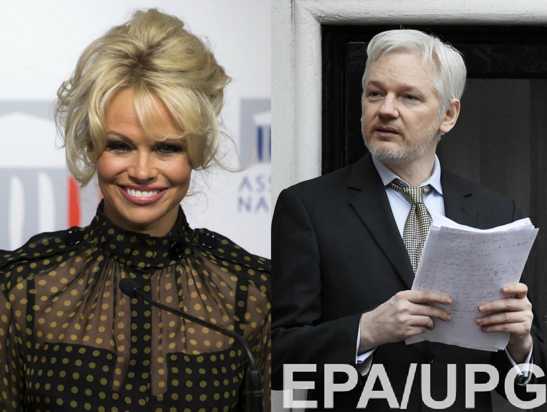 Памела Андерсон и Джулиан Ассанж