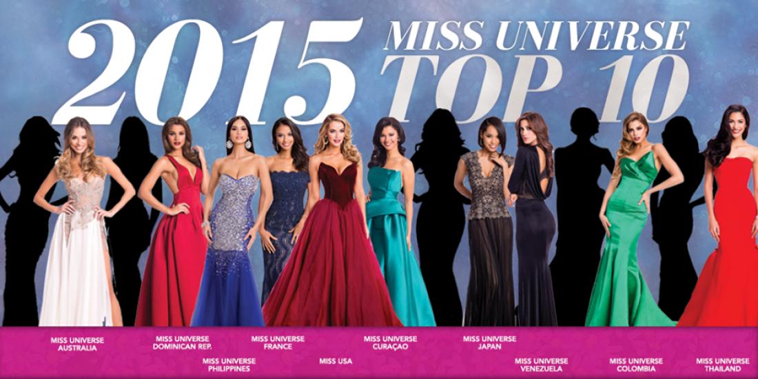 Мисс Вселенная 2015: ТОП-10