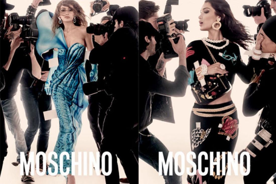 Джиджи и Белла Хадид в рекламной кампании Moschino