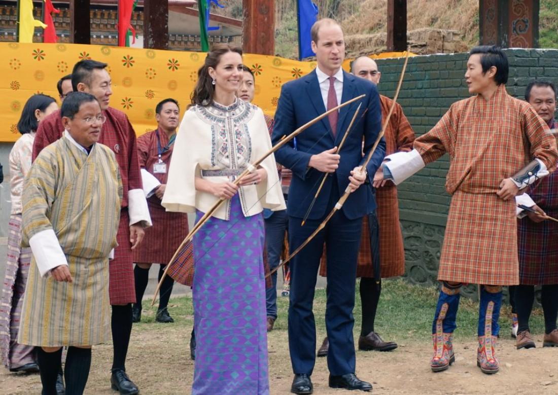 Кейт Миддлтон и принц Уильям постреляли из лука