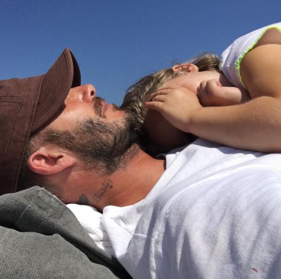 Дэвид Бекхэм и его дочь Харпер