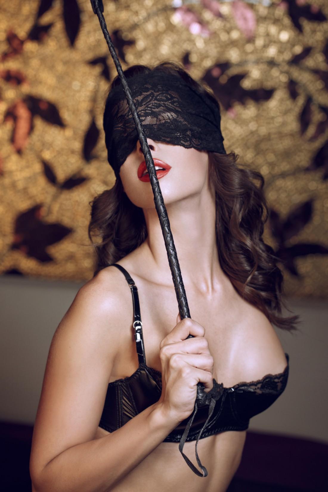 Back black in lingerie