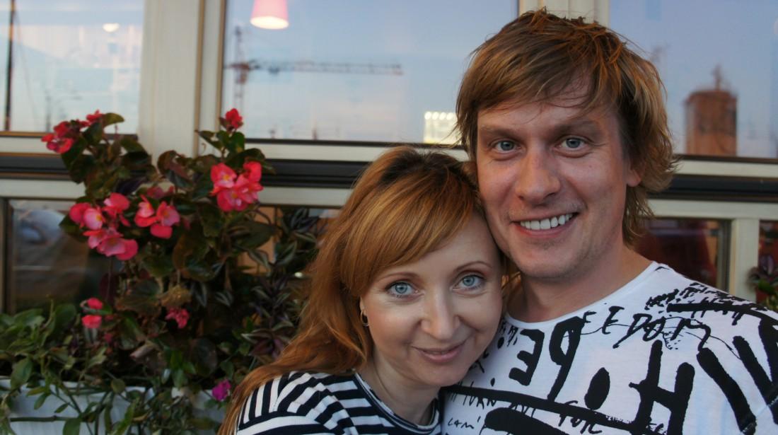 Степан Казанин с женой