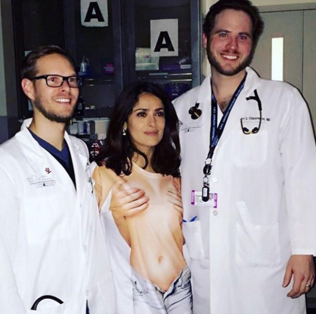 Сальма Хайек попала в больницу