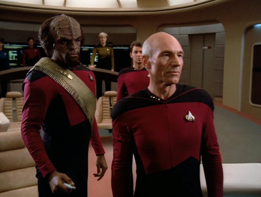 Патрик Стюарт в роли капитана Жана-Люка Пикара в Звездном пути