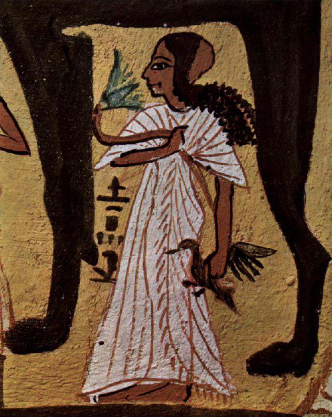 Древние египтянки носили плиссированные платья, прикрывающие плечи