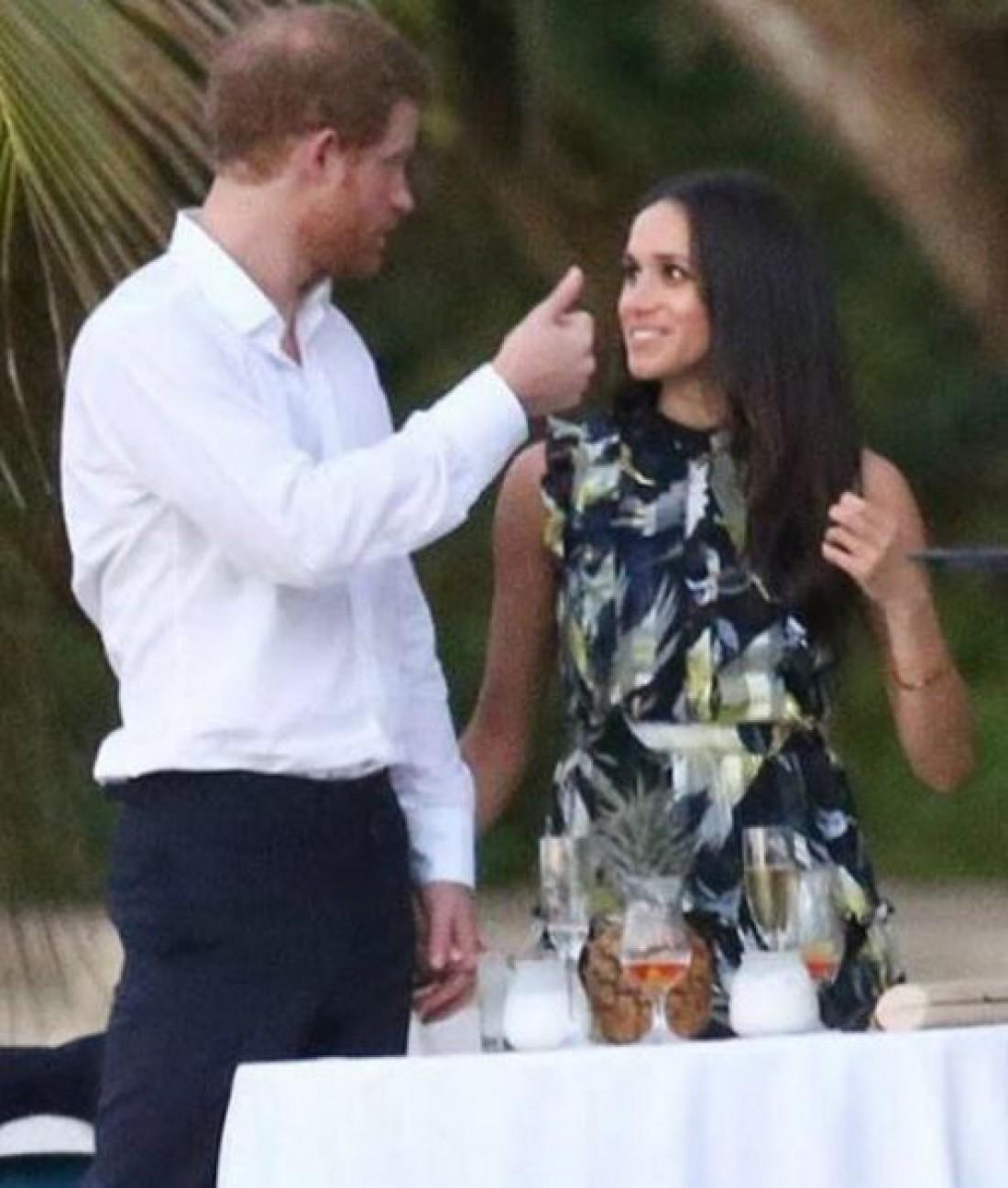 Принц Гарри и Меган Маркл на свадьбе у друга