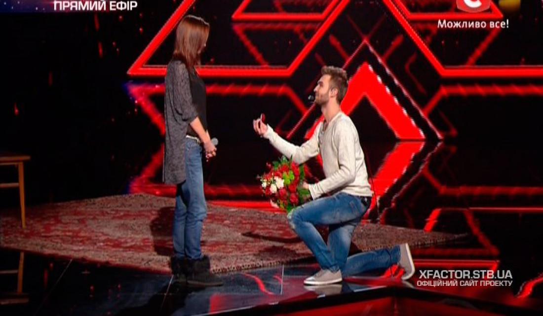 Х-фактор 6 сезон: Андрей Инкин делает предложение девушке