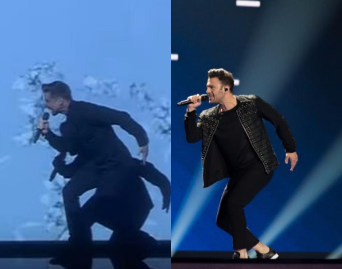 Участник «Евровидения-2017» вКиеве скопировал прошлогоднее выступление Сергея Лазарева