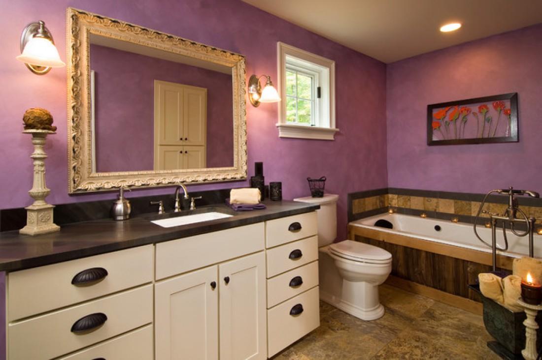 Ванная в фиолетовом цвете