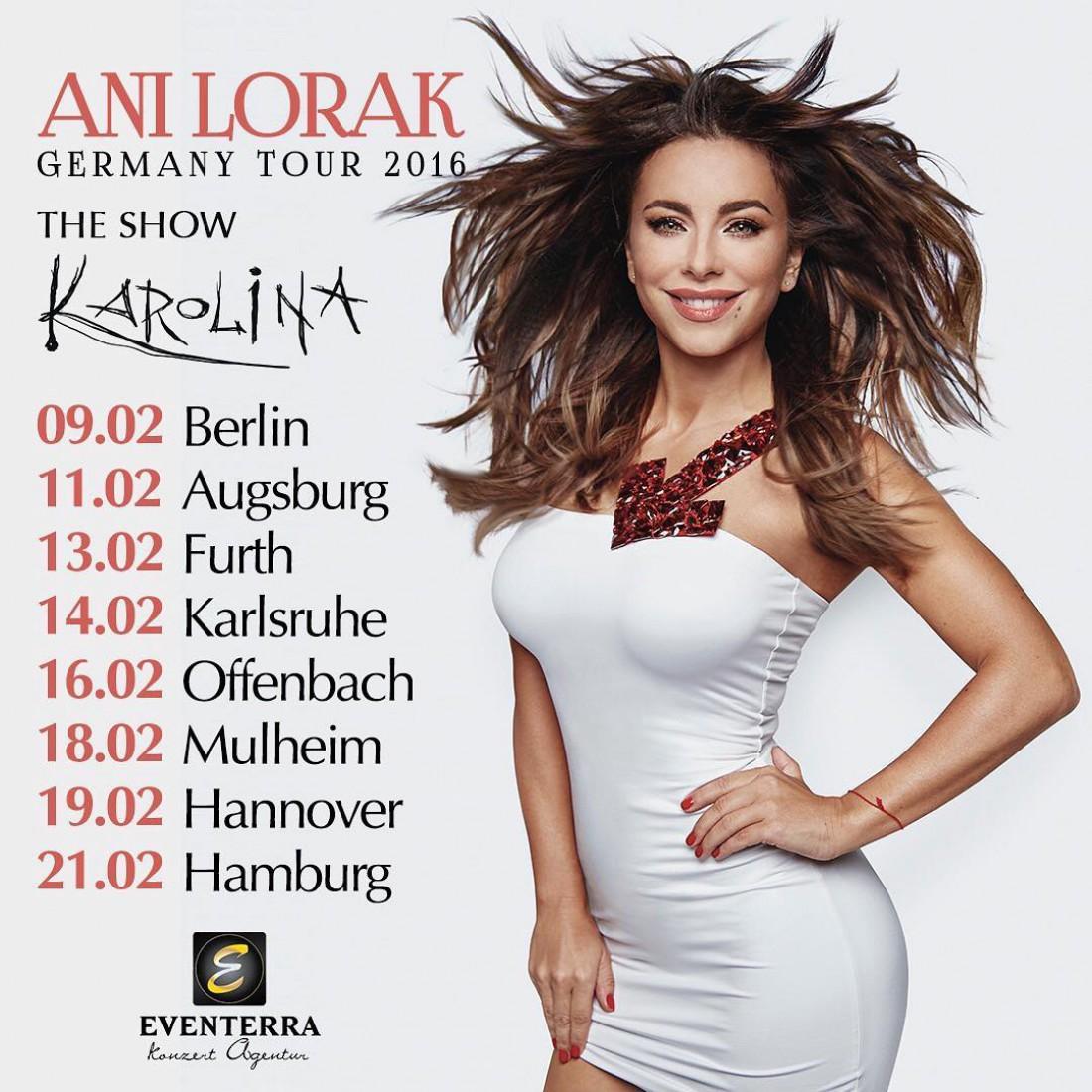 Дата концертов Ани Лорак в Германии