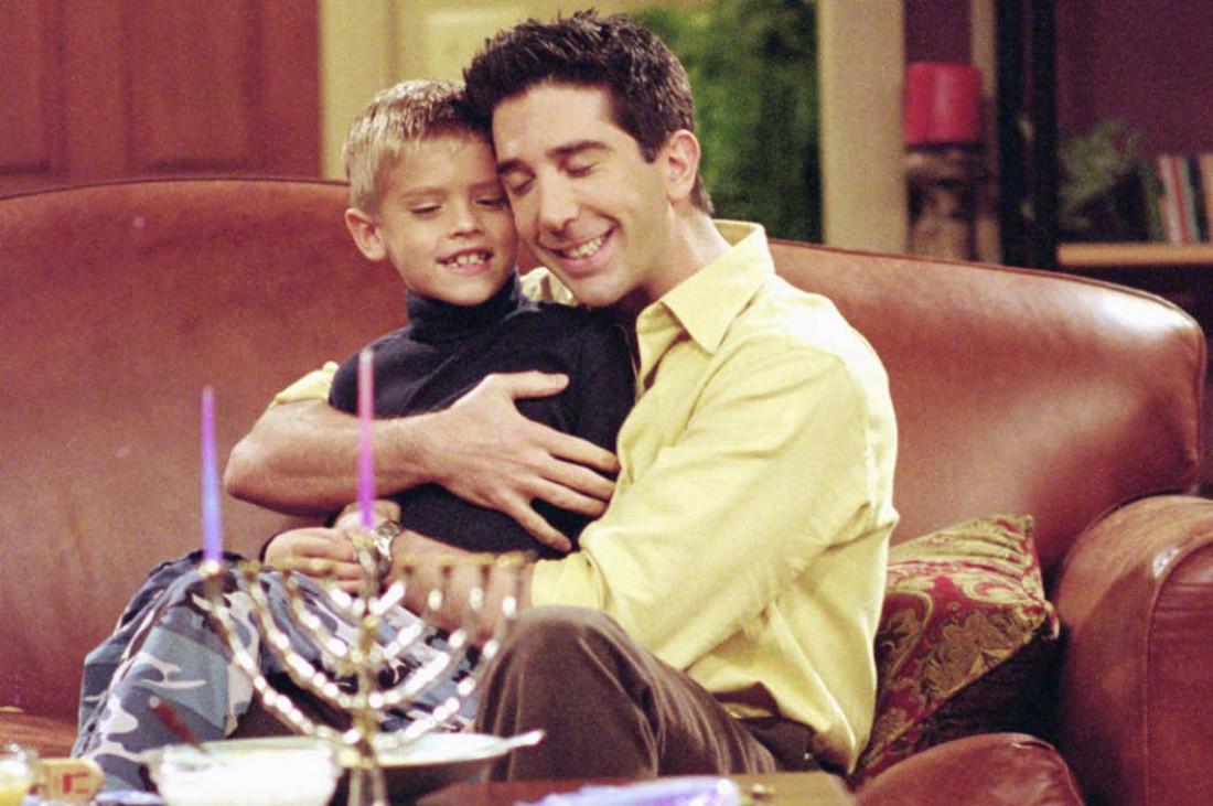 Росс Геллар с сыном Беном