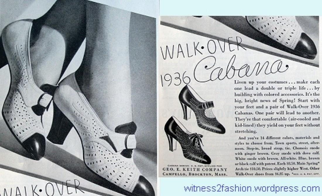 Реклама монков от Cabana в журнале Walk-Over (1936)