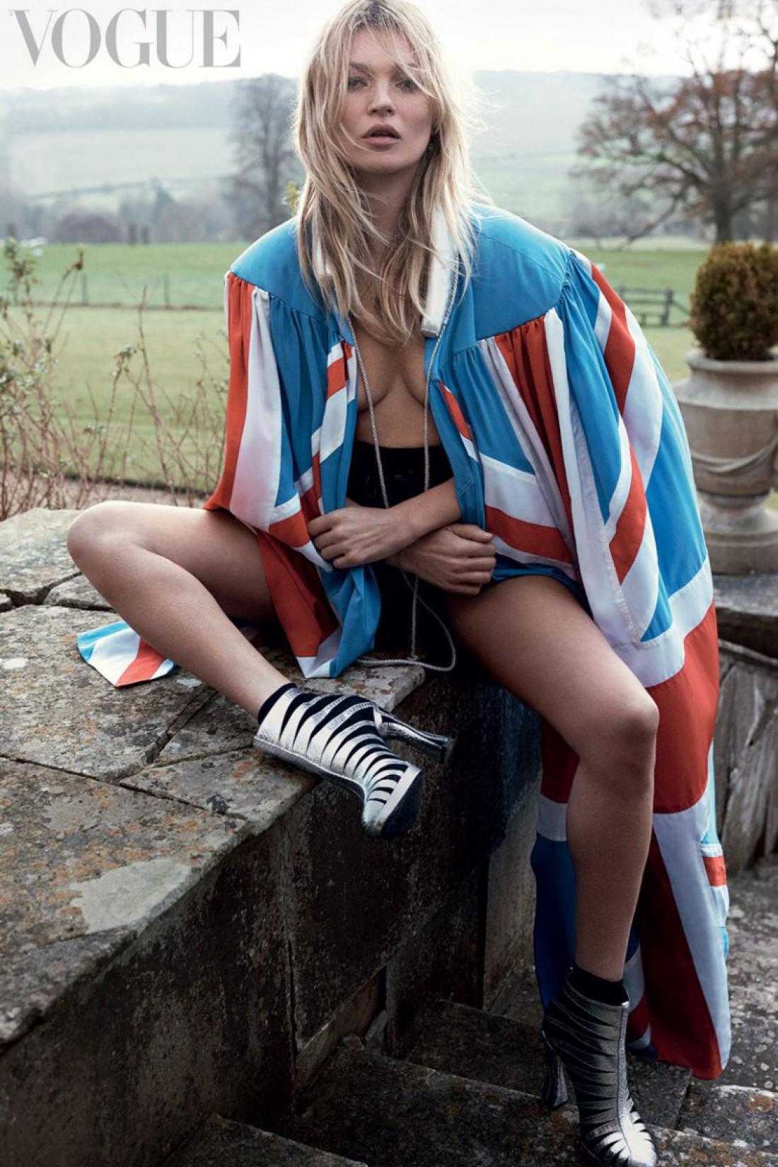 Кейт Мосс в новой фотосессии Vogue