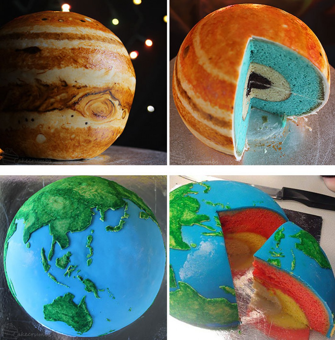 Торты в виде Юпитера и Земли