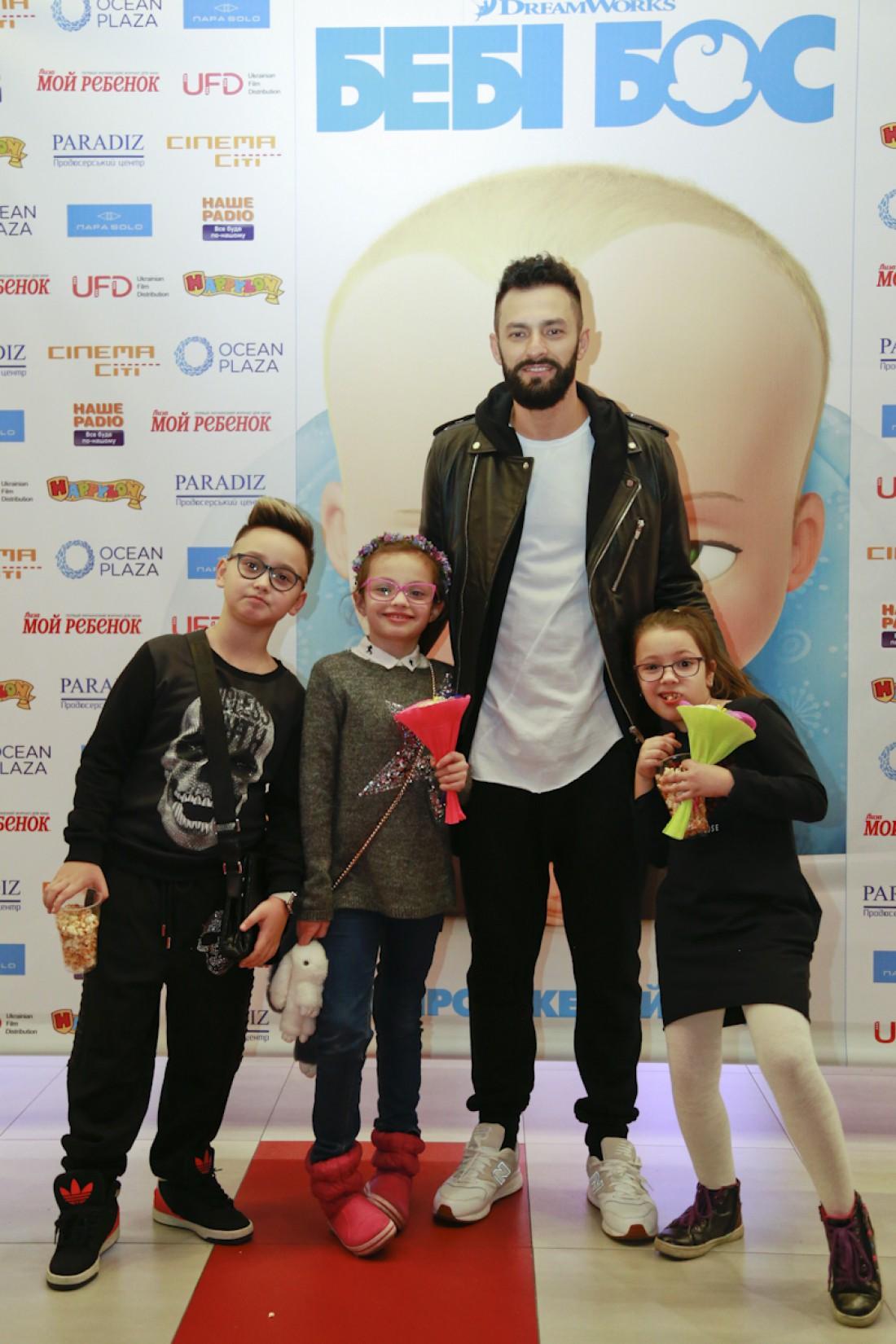 Андрей Кише с детьми