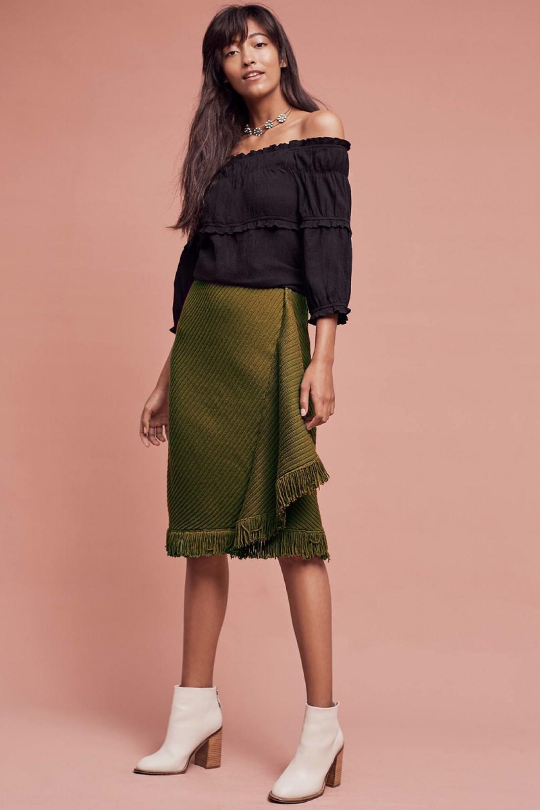 Зеленая юбка от Rosie Neira