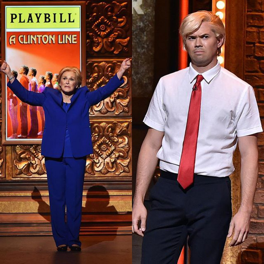 Голливудские актеры перевоплотились в Клинтон и Трампа