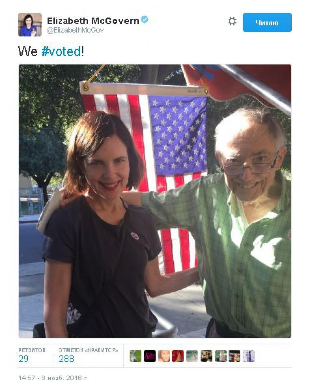 Элизабет МакГоверн на выборах в США
