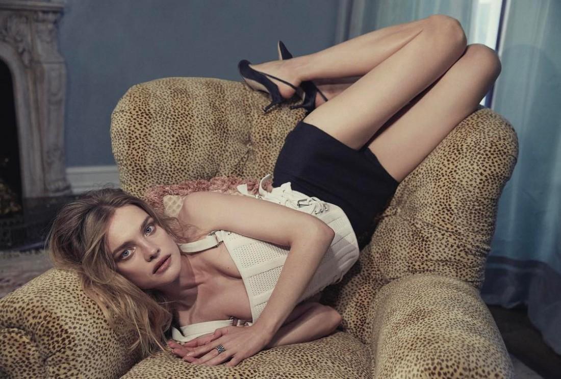 Наталья Водянова в фотосете для PORTER magazine