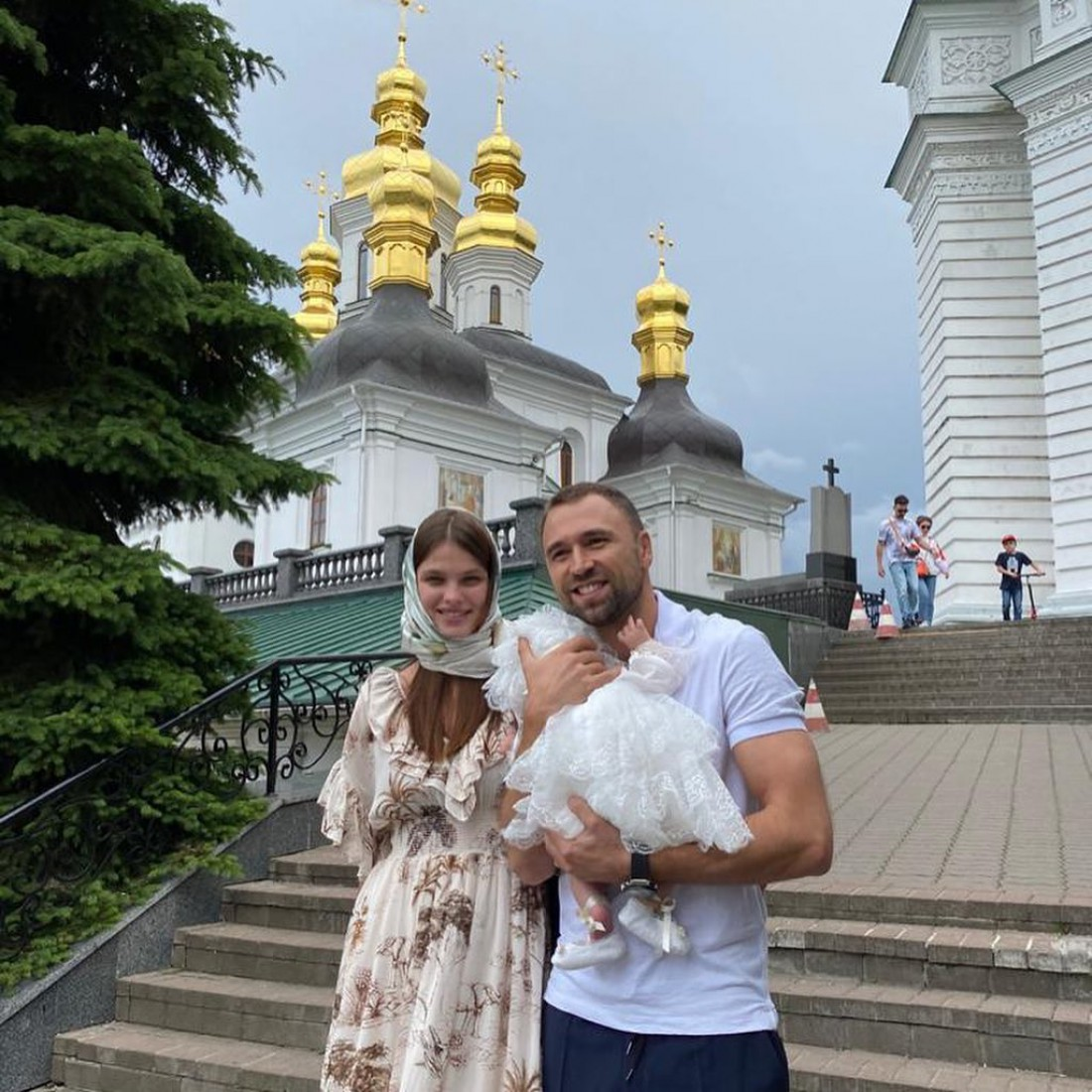 Макс Михайлюк и Дарья Хлистун окрестили дочь