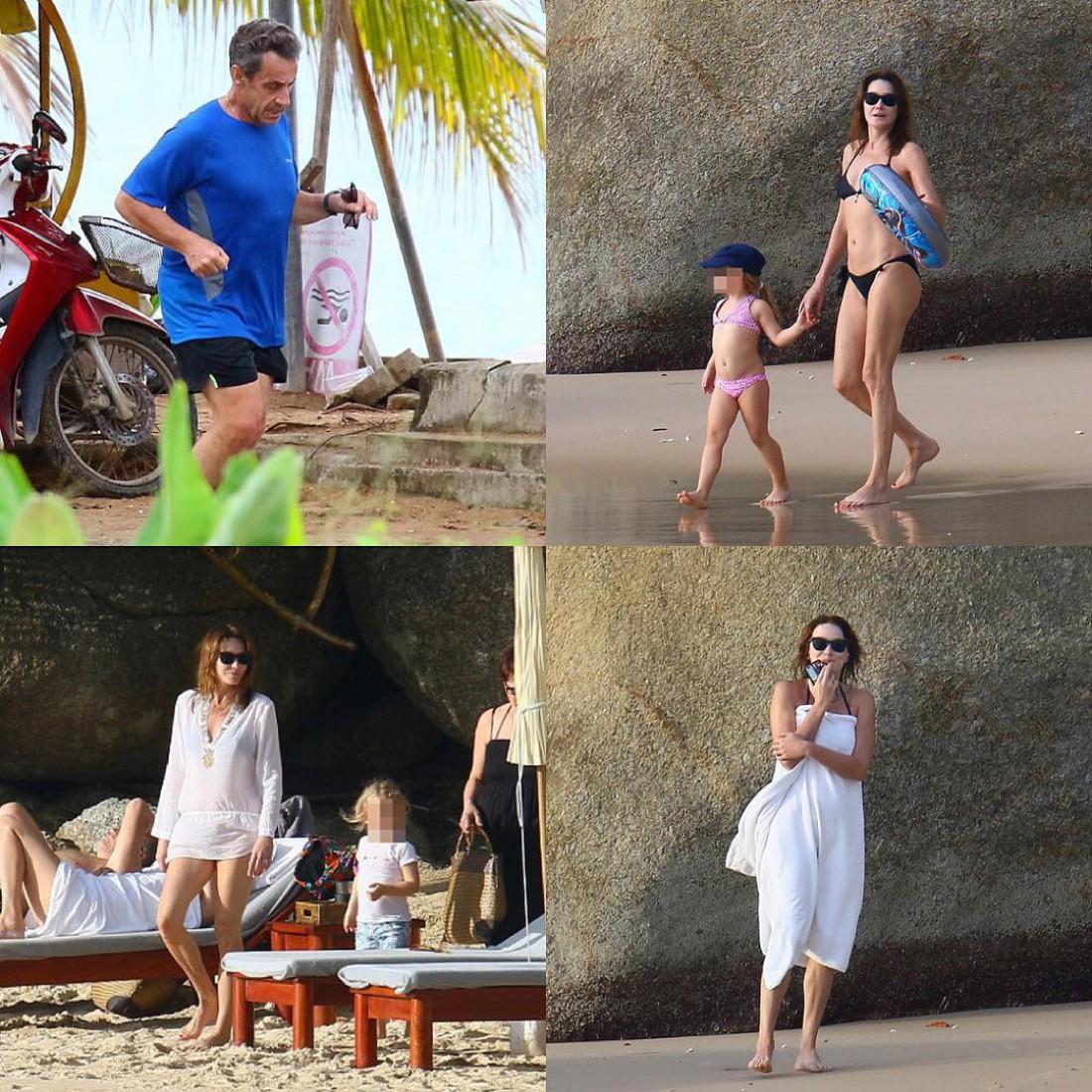 Семья Николя Саркози в Таиланде