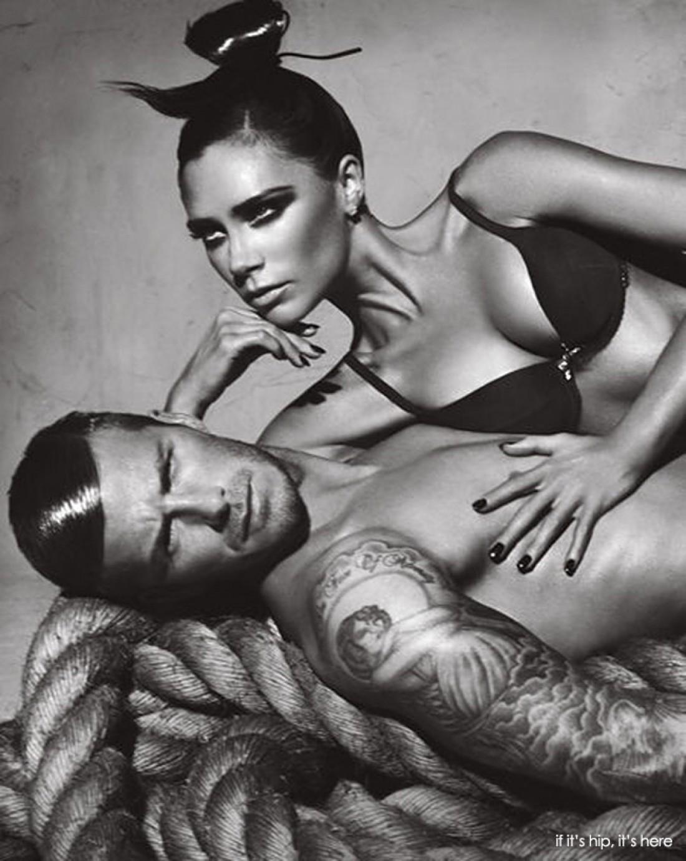 Виктория и Дэвид Бекхэм в рекламной кампании Armani Underwear