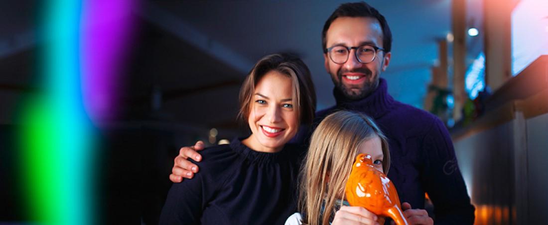 Анастасия Топольская с семьей