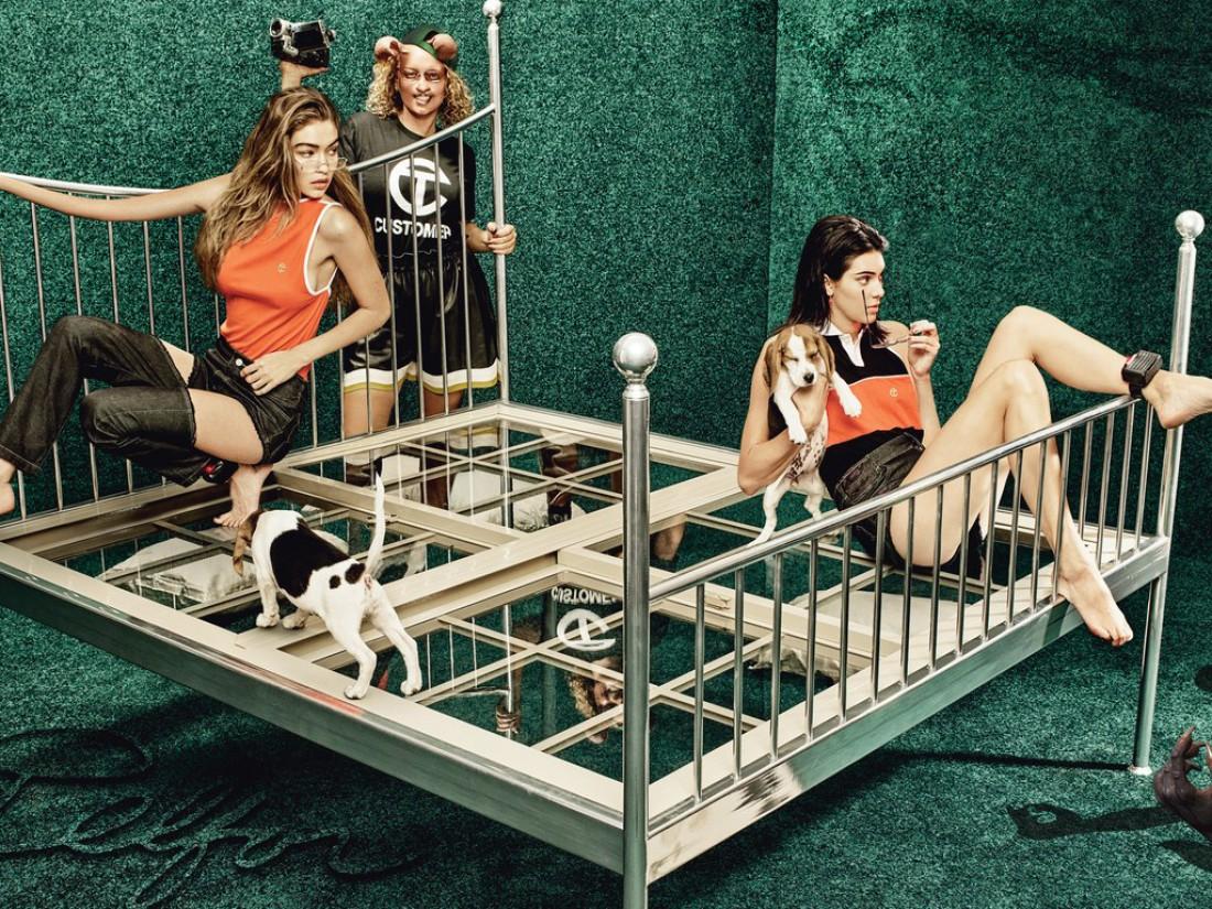 Модели Джиджи Хадид и Кендалл Дженнер в фотосессии для W magazine