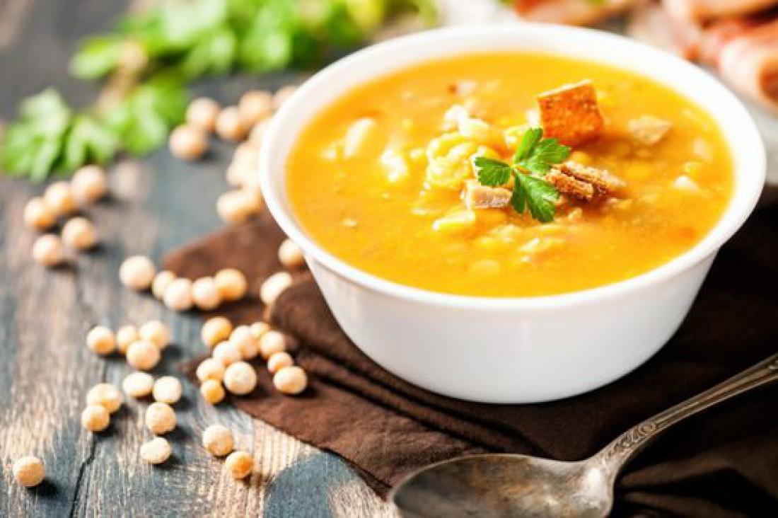 Гороховый суп с копченостями: Пошаговый рецепт