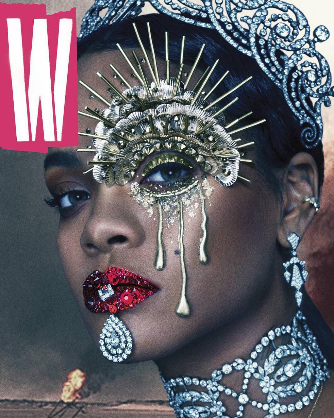 Певица Рианна на обложке журнала W magazine
