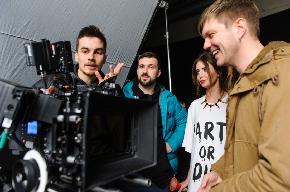 Съемки клипа Песня 404 группы Время и Стекло
